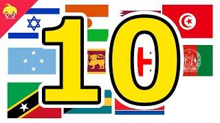 ピタゴラ国旗10【世界の国旗】