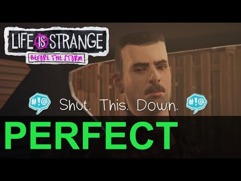 "Life is Strange: Before the Storm Awake Backtalk David ""Shut. This. Down."" PERFECT Challenge"