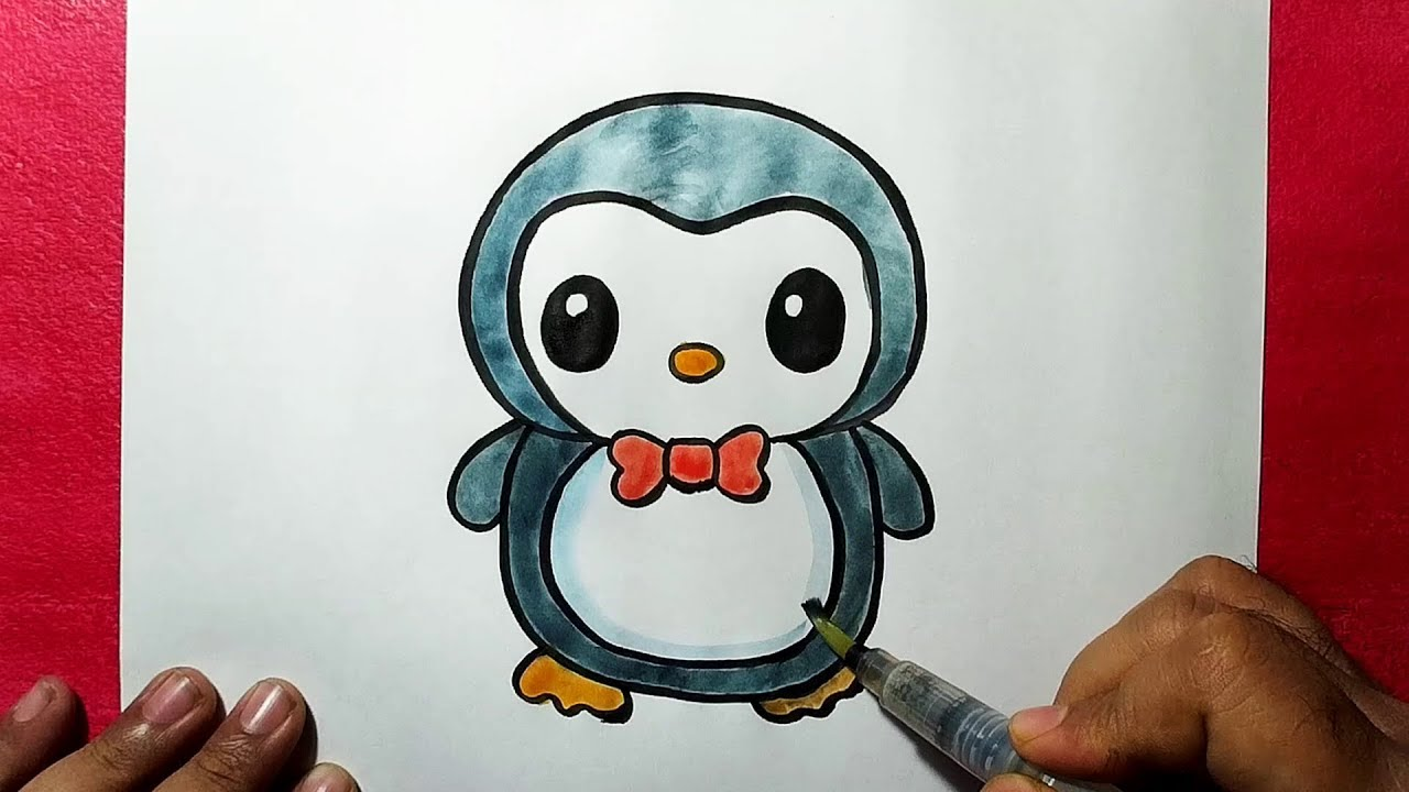 Draw cute cartoon penguin for you by Aj_555 |Cute Baby Penguins Drawings