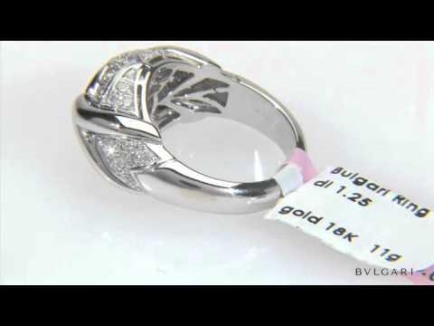 BULGARI 1.25 CTW Diamonds 18K Gold Ring