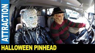 Halloween in America [Part 2] dressed as Pinhead from Hellraiser   Jarek in Tampa Bay Florida USA