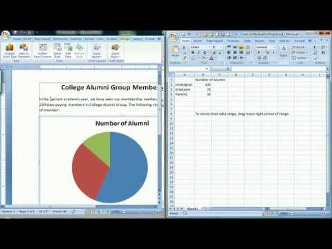 How to Create a Pie Chart in Microsoft Word 2007 - YouTube