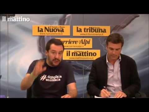 Videoforum con Matteo Salvini [Il Mattino di Padova, 23/05/2015]