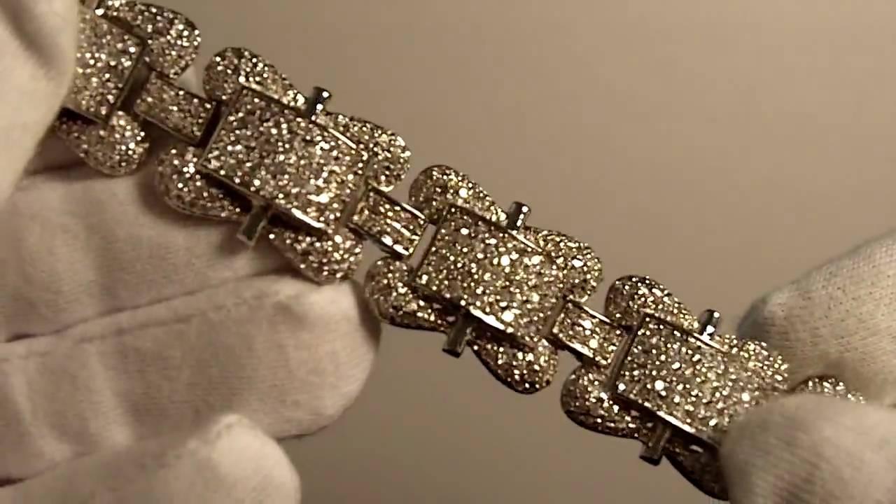 Custom Iced Out Sim Diamond Bracelet Lab Birdman Jewelry