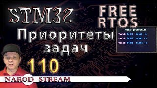 Программирование МК STM32. Урок 110. FreeRTOS. Приоритеты задач