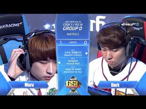 [2017 GSL Season 2]Code S Ro.16 Group D Match2 Maru vs Dark