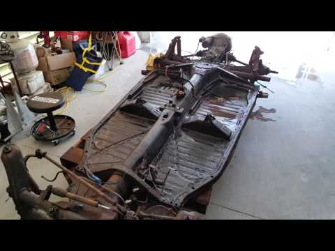 VW Beetle Body Removal from Chassis