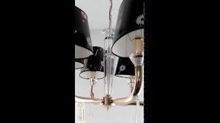 Люстра на пять абажуров с массивной стеклянной стойкой(, 2016-01-21T13:10:42.000Z)