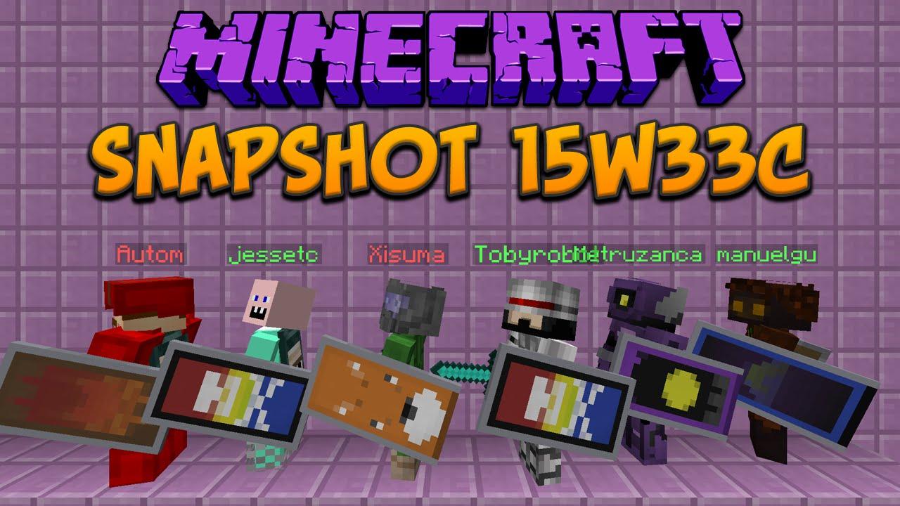 Minecraft 1 9 Snapshot 15w33c Shields  Shields  U0026 Shields