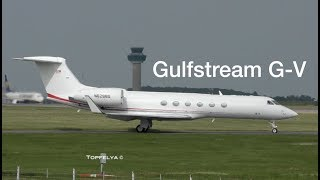 Most Beautiful Business Jet Gulfstream G V departing London Stansted airport