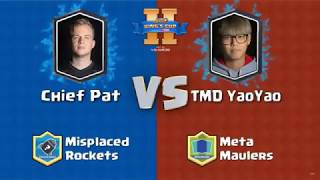 Chief Pat VS TMD Yao Yao | Clash Royale King's Cup 2017 - $200,000 Clash Royale Tournament - Day 2