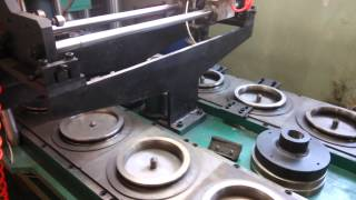 Формовочная машина для производства шлифовальных кругов (дисков)(, 2015-04-22T03:15:52.000Z)