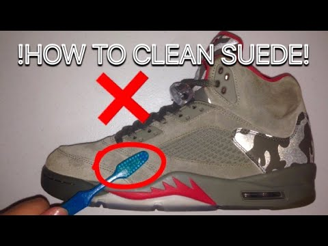 info for 194f5 d4348 HOW TO CLEAN SUEDE JORDANS / SHOES (Jordan 5 Camo Restoration)