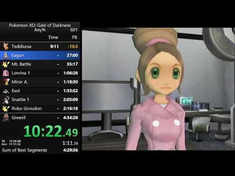 Pokemon XD any% speedrun in 4:30:23 [current world record]