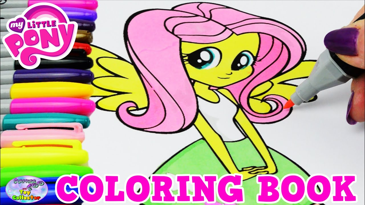 My Little Pony Coloring Book MLP EG Fluttershy Episode Surprise Egg And Toy Collector SETC