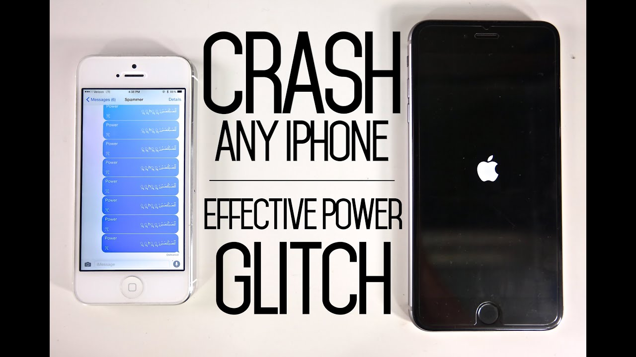 How To Crash Any Iphone With Text Message Glitch Effective Power