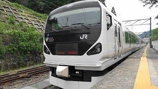 E257系 特急あずさ3号 雑踏から大自然へ 長時間特急の旅 (千葉~南小谷、夏・秋) Series E257 Limited Express Azusa 3