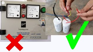 submersible starter connection | how to make submersible capacitor starter connection submersible