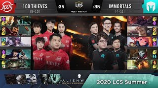 100 VS IMT Highlights - 2020 LCS Summer W8D3