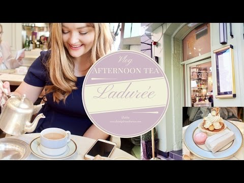 Afternoon tea at Ladurée Dublin. Vlog Dainty diaries