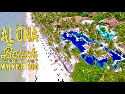2018 Alona Beach Panglao Island Bohol Phantom 4 Drone Flight and Full Walking Tour