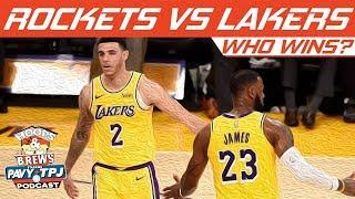 Who Wins Houston Rockets vs LA Lakers | Hoops N Brews