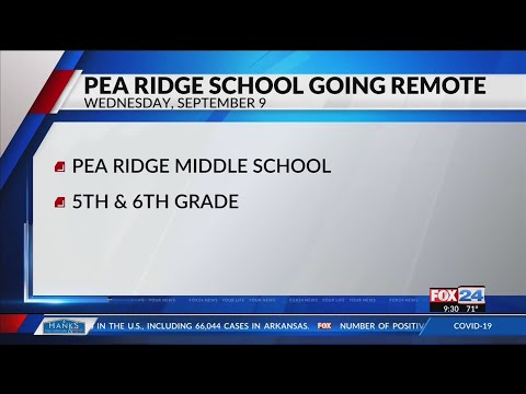 Pea Ridge Middle School pivoting to remote learning Wednesday due to positive COVID-19 case