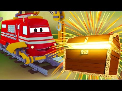 Troy The Train and the great treasure in Car City | Cars & Trucks cartoon for children