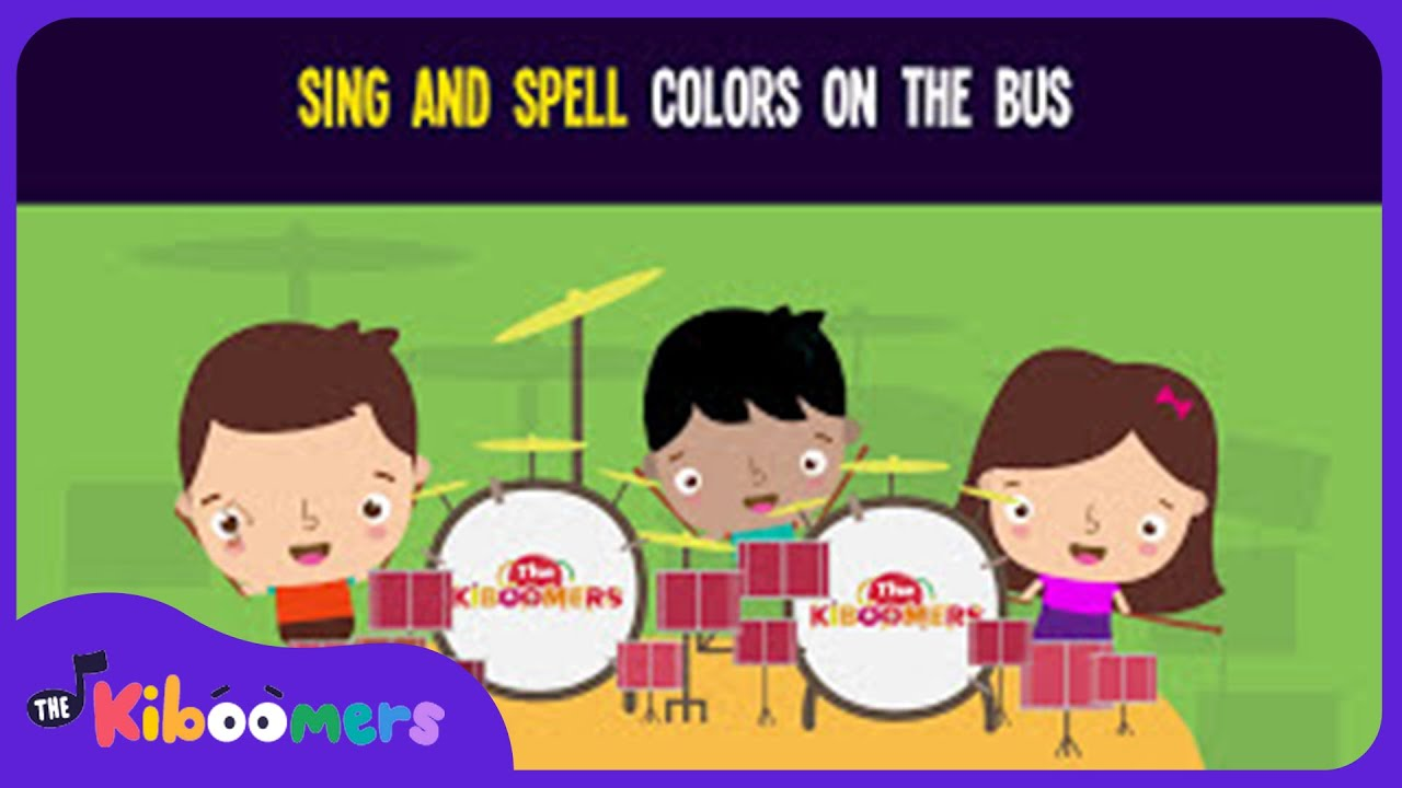Sing and Spell Colors on the Bus Song for Kids | Phonics Songs for ...