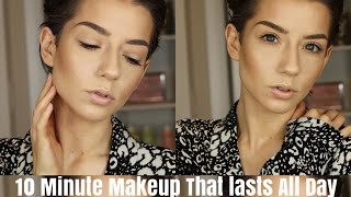 10 Minute Makeup That Lasts All Day! | Quickie Tutorial