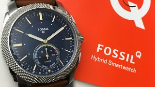 Fossil Hybrid Smartwatch Machine Brown Leather Men's Watch FTW1162 (Unboxing)