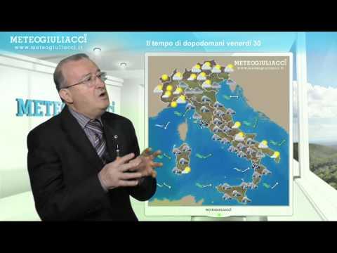 Meteo di dopodomani, Venerdì 30 Novembre 2012.