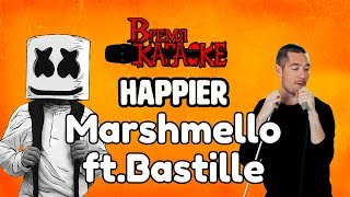 Marshmello ft. Bastille - Happier (Караоке)