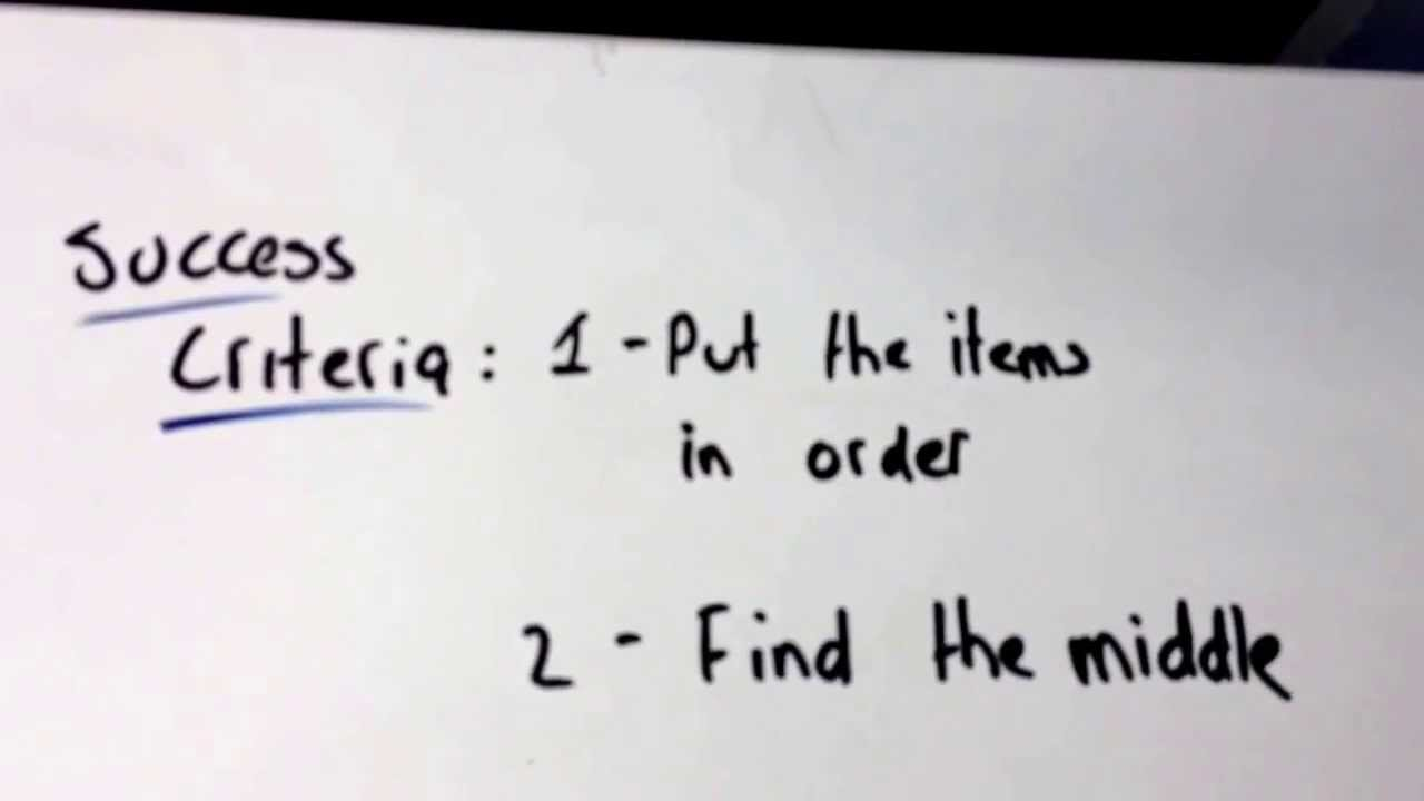 Find The Median Of A Set Of Numbers