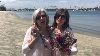 Lynn and Lauren got married on the beach in Long Beach