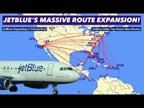 JETBLUE'S MASSIVE ROUTE EXPANSION! *28 Brand New Flights*