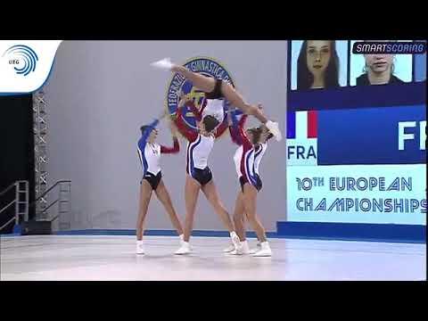 France -  2017 Aerobics European bronze medallists, junior groups