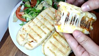 بانيني ساهل فكرة عشاء او غداء بدون لحم بدون بيض بدون قلي مع طريقة الاحتفاض بيه