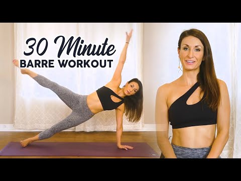30 Min. Cardio Barre to Burn Fat, Tone & Sculpt, No Barre Needed! Workout Fitness At Home Ballet Fit