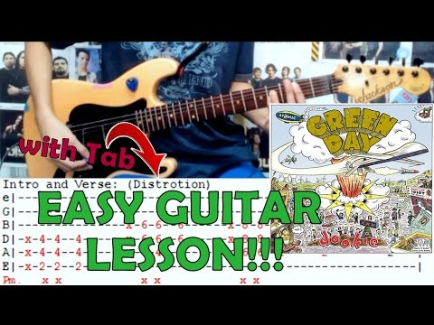 When I Come Around - Green Day(Complete Guitar Lesson/Cover)with ...