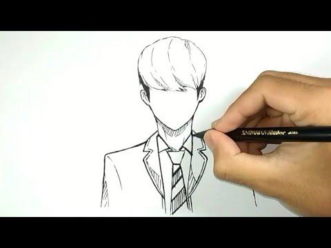Cara Menggambar Cowok Korea Ganteng Versi Anime Youtube