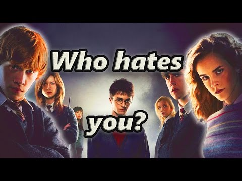 Which Harry Potter Character Hates you the most