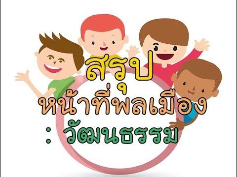 O-NET สังคม ครูเดช หน้าที่พลเมือง :  วัฒนธรรม