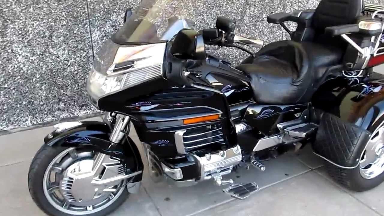 98 Goldwing trike for sale, $12,995, runs good, some bad chrome - YouTube