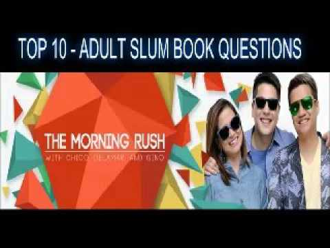 TMR The Morning Rush - January 19, 2016 - Top 10 - ADULT SLUM BOOK QUESTIONS - Chico Delamar Gino