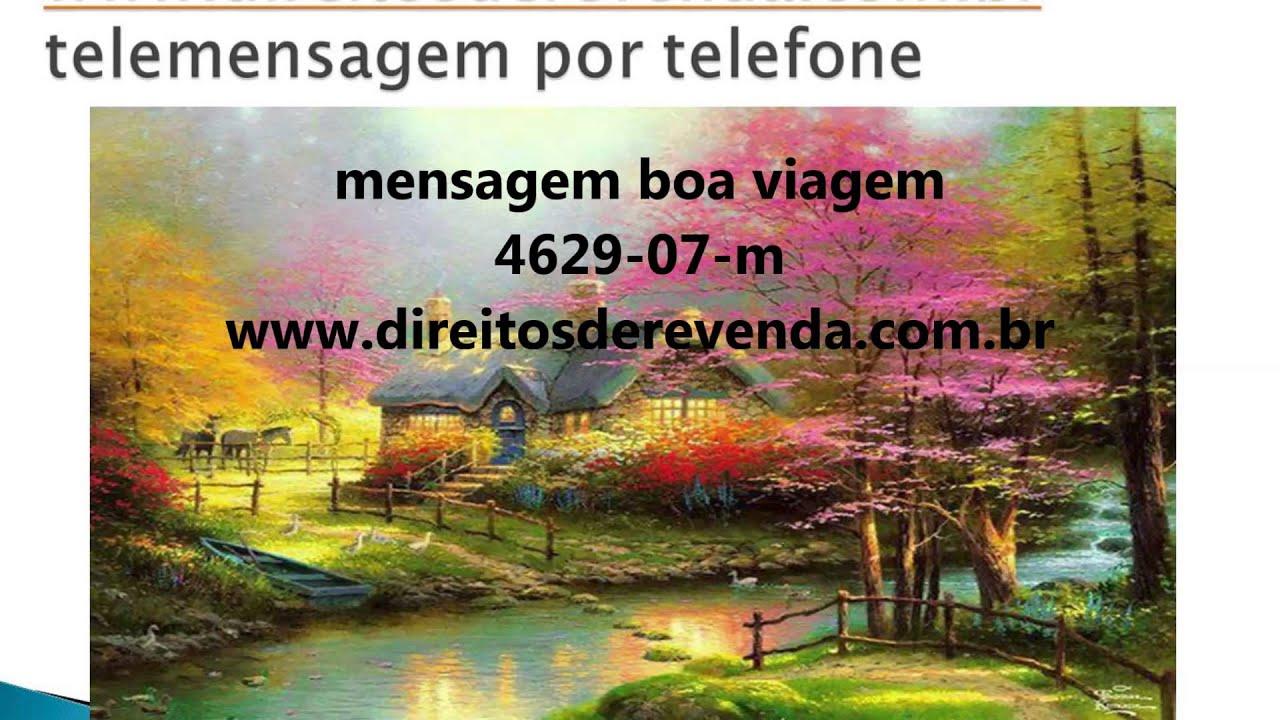 Conhecido Telemensagem boa viagem 4629-07 - YouTube MG82