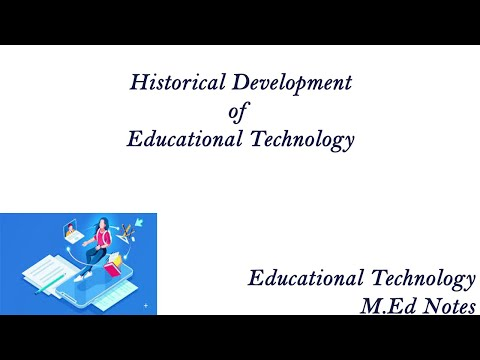 HISTORICAL DEVELOPMENT OF EDUCATIONAL TECHNOLOGY - M.ED NOTES OF EDUCATIONAL TECHNOLOGY
