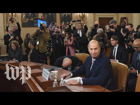 Watch: Day 4 of public Trump impeachment hearings (FULL LIVE STREAM)