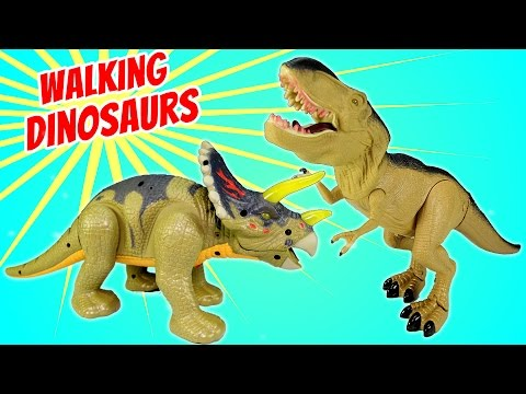 Thumbnail: Dinosaur Walking Triceratops Light and Sound - Dinosaurs Toys For Kids