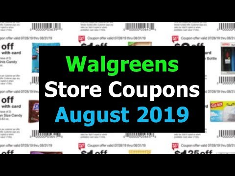 Walgreens Store Coupons August 2019